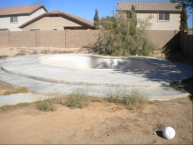 Swimming Pool Repair - Before